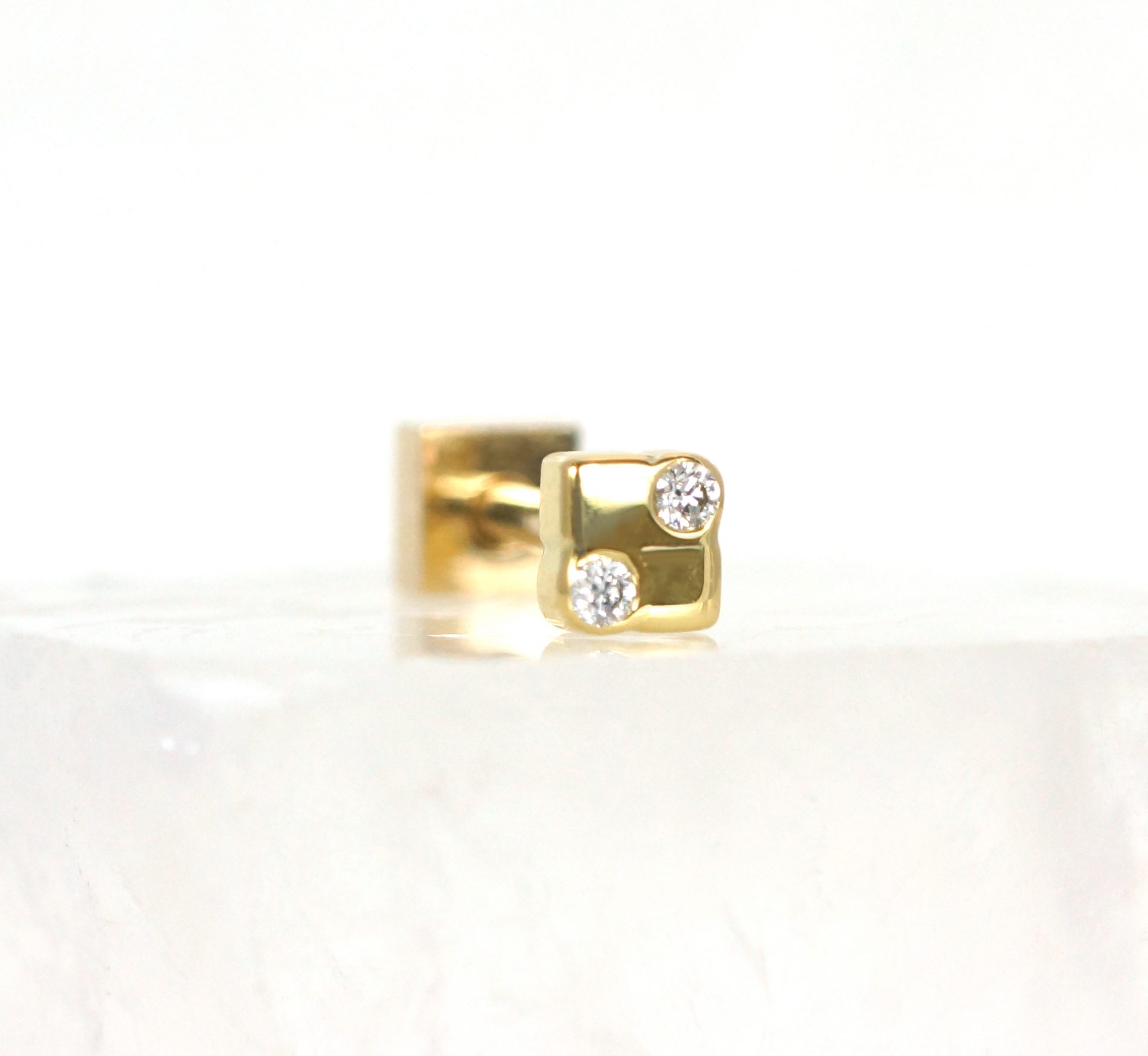 luxury quality cartilage earrings high quality piercing jewelry brands lena cohen designer cartilage earrings 18k gold