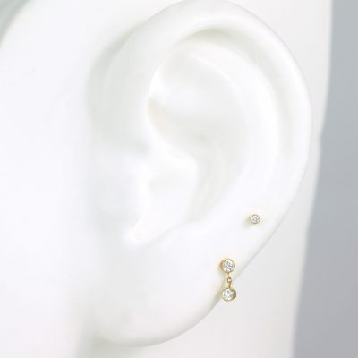 18k Yellow Gold Duo Diamond Studs Set
