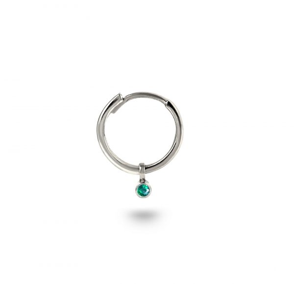 helix piercing jewelry emerald charm huggies hoops helix piercing