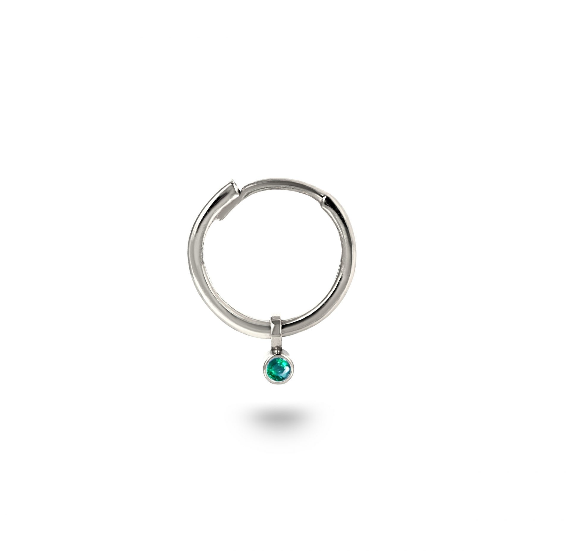 natural-emerald-charm-huggies-hoops-helix-piercing–lena-cohen-london-18k-gold