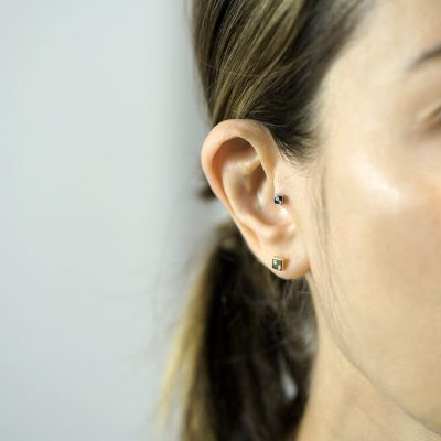 18k-solid-gold-geometric-unisex-square-luxury-screw-back-tragus-earring-by-British-designer-Lena-Cohen-United-Kingdom