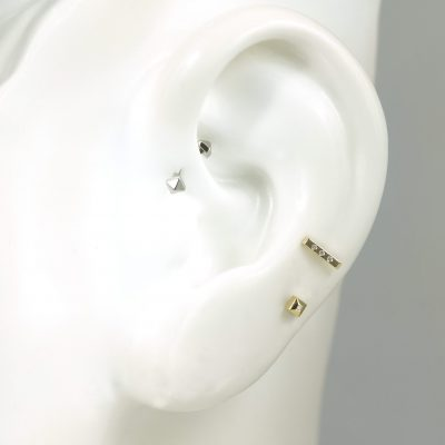 18k Gold Unisex Piercing Set