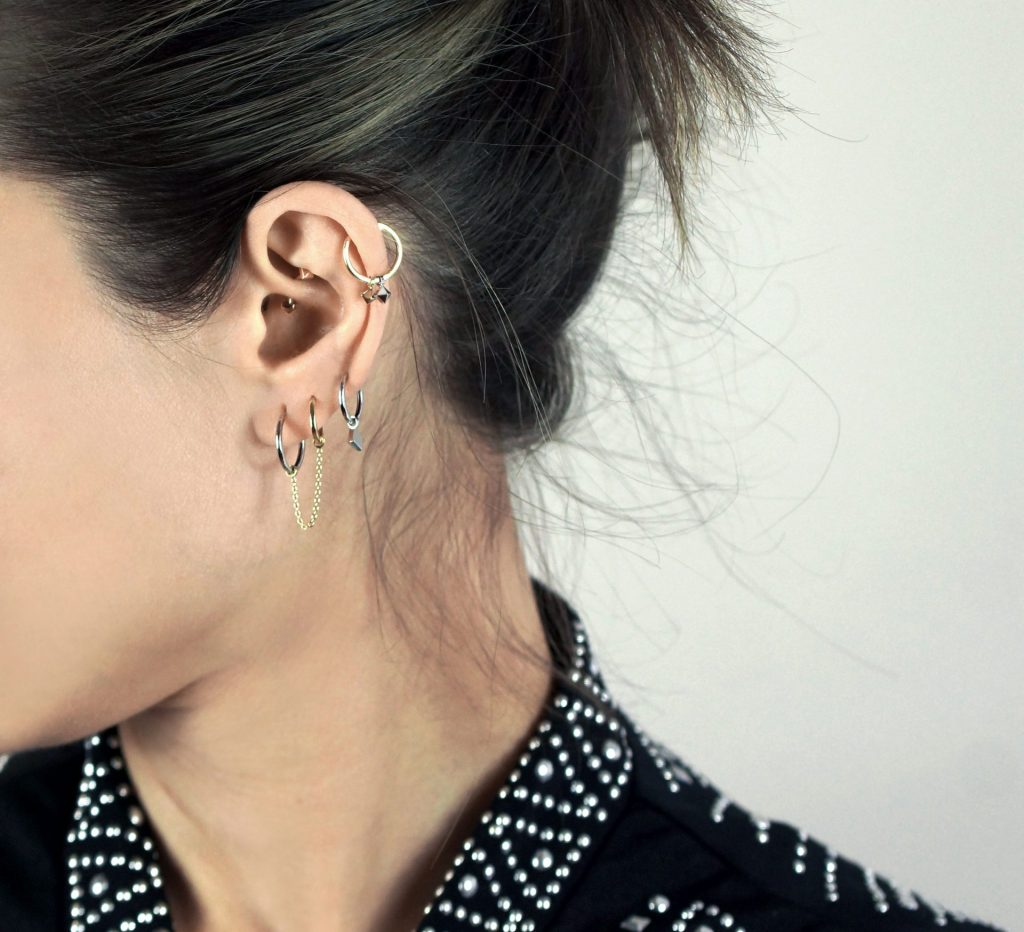 Check out our photo gallery of Cute Ear PiercingTypes,Combinationsand Jewelry for TragusPiercings, Cartilage Earrings, Helix Piercings