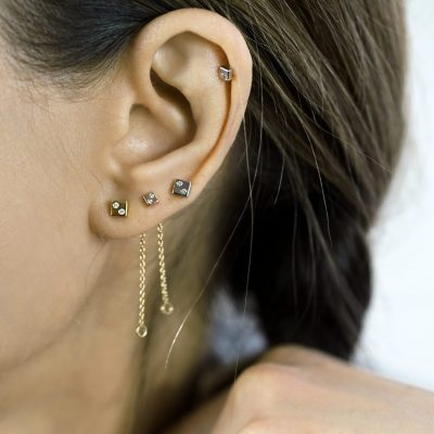 luxury-piercing-helix-versatile-dice-square-diamond-stud-cartilage-earring