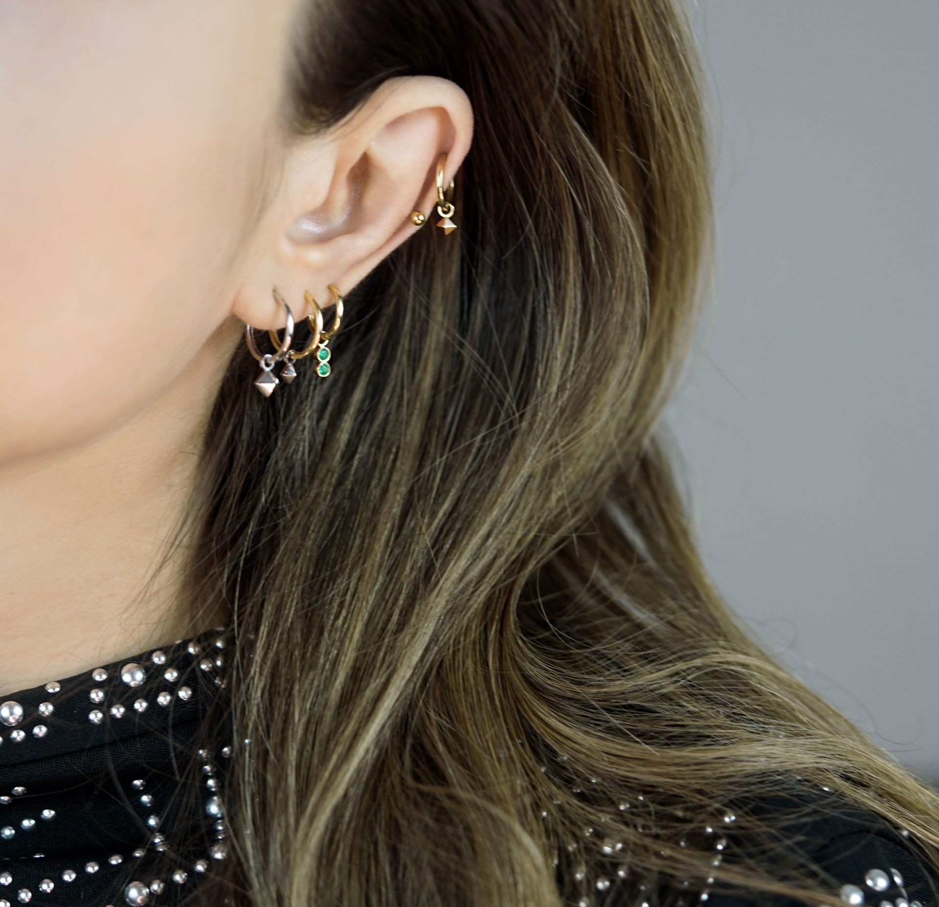 solid-18k-gold-pyramid-shape-charms-for-huggie-hoop-earrings-lena-cohen-luxury-piercing-jewellery-london