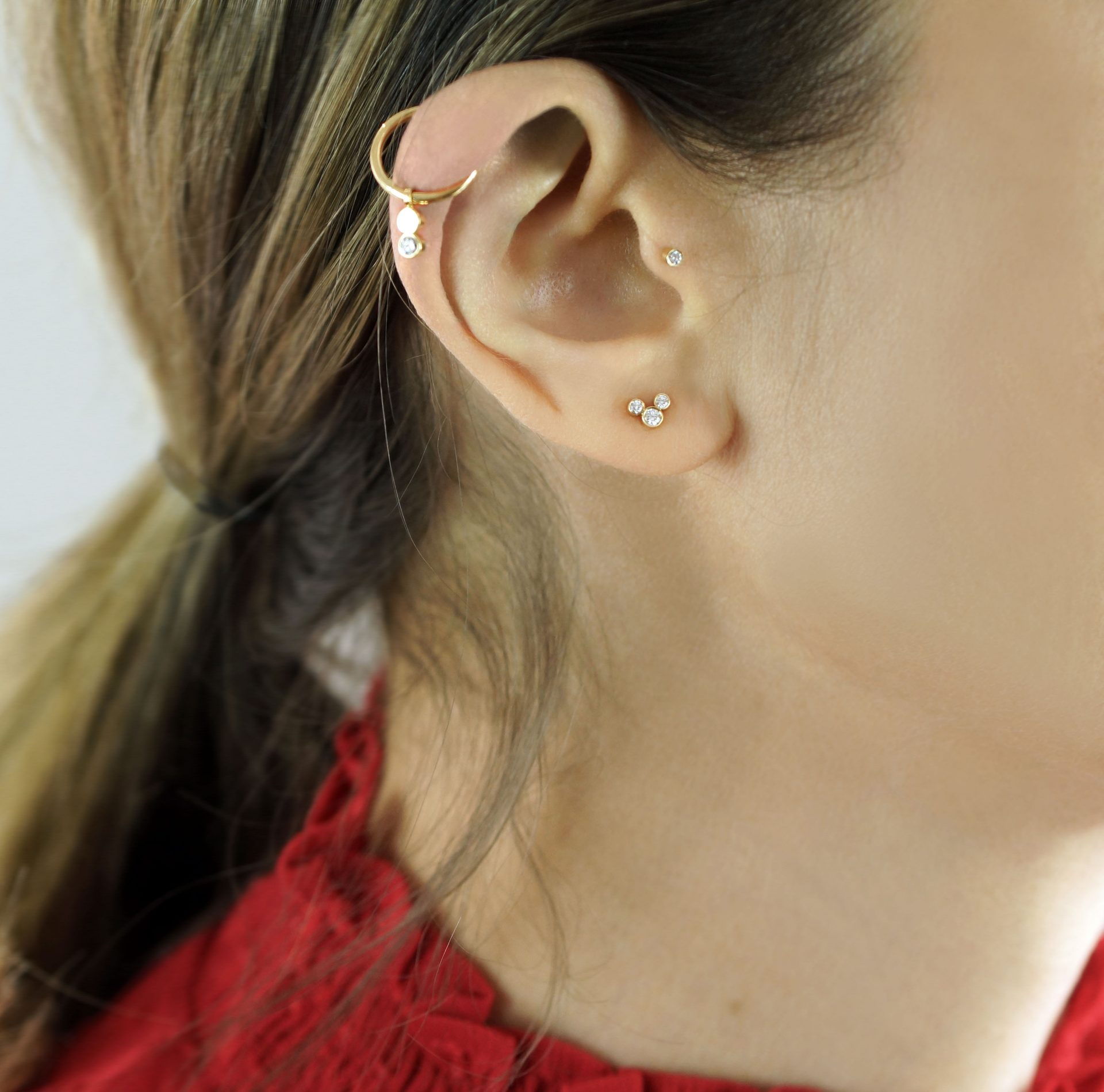 WHAT EAR PIERCINGS GO WELL TOGETHER? Multiple piercings