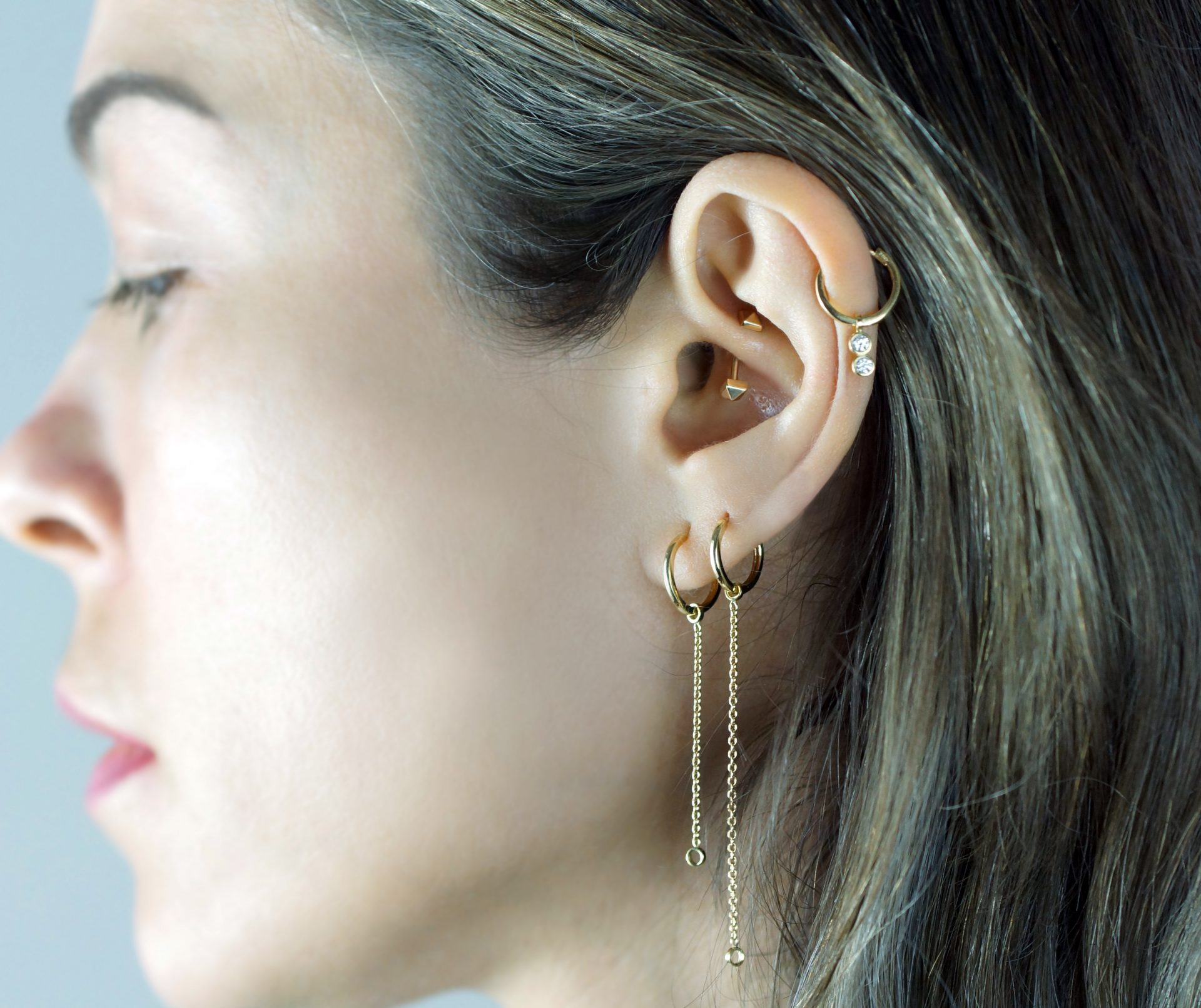 WHAT EAR PIERCINGS GO WELL TOGETHER? See our gallery for ear piercing combinations that prove teamwork makes the dream work!