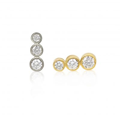 Tres Campanas 18k Gold Cartilage Diamond Stud