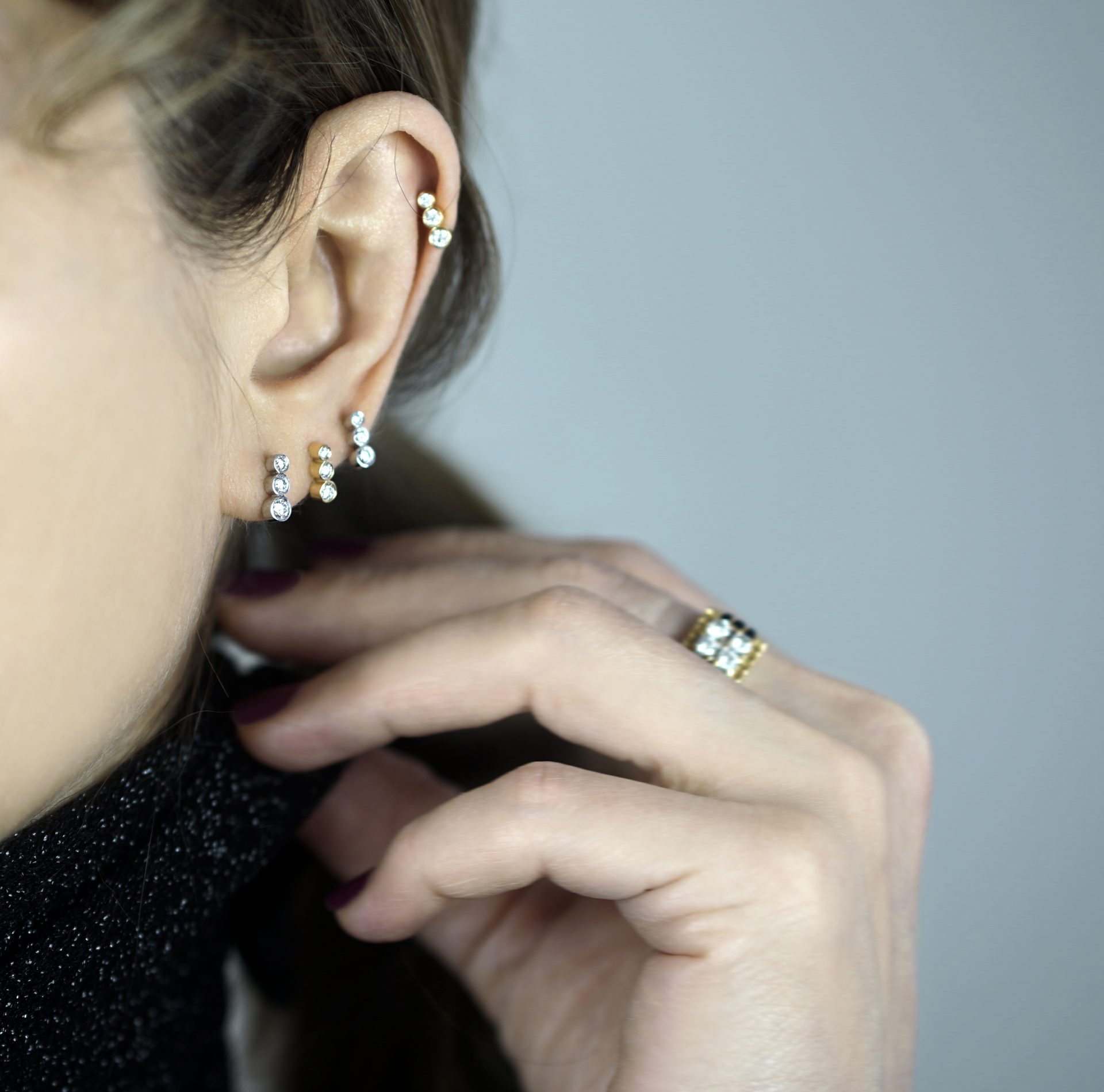 A very good choice for multiple ear piercing combinations in 2021