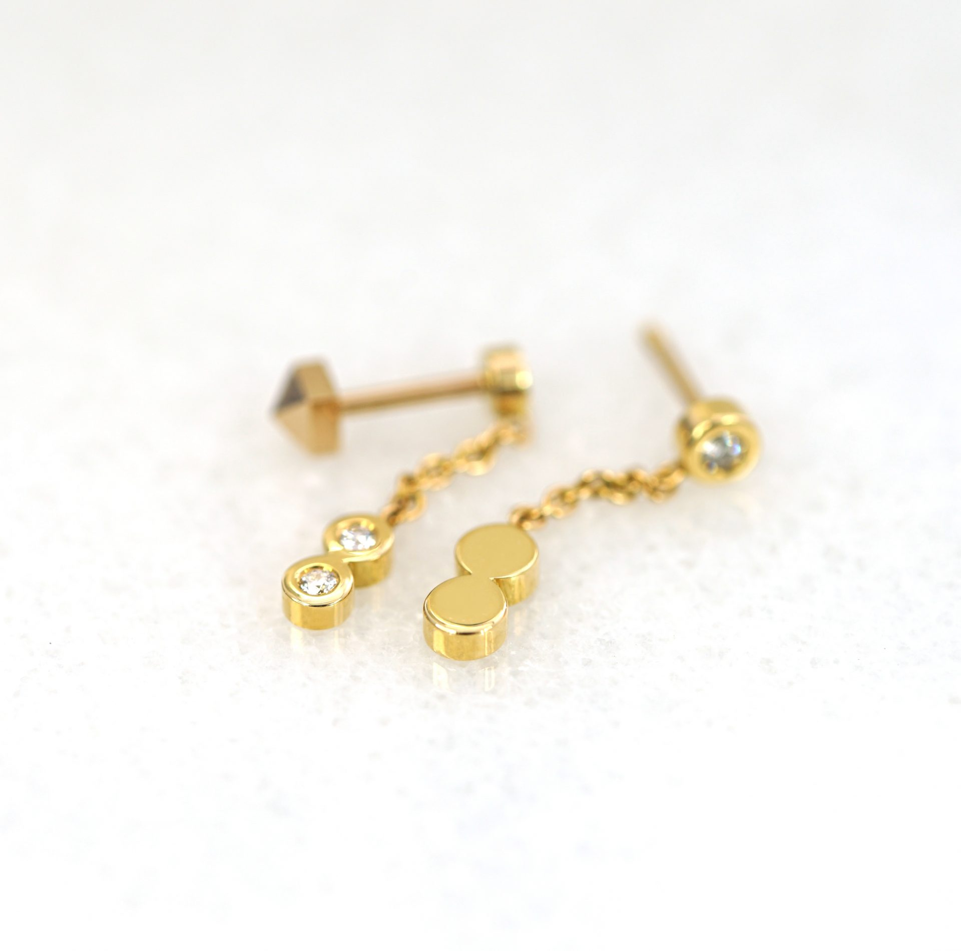 sophisticated delicate elegant luxury piercing cartilage earrings jewellery lena cohen london