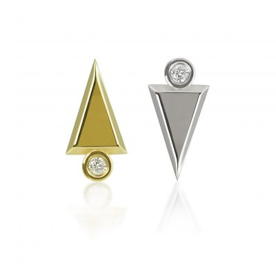 18k Gold Art Deco Diamond Piercing Stud