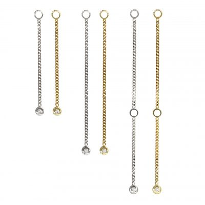 18k Gold Diamond Pendulum Chain Transformer