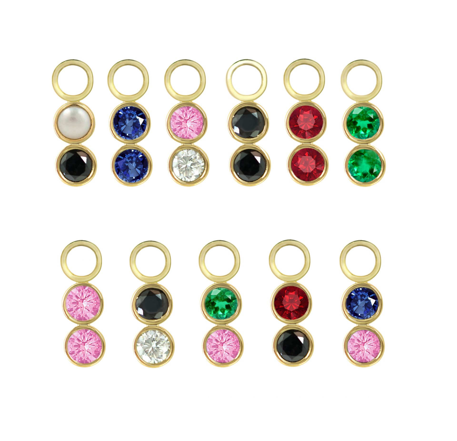 18k-solid-yellow-gold-natural-emerald-sapphire-black-diamond-ruby-pearl-charms-for-hoops-huggies