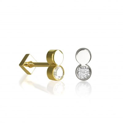 18k Gold Fusion Diamond Stud