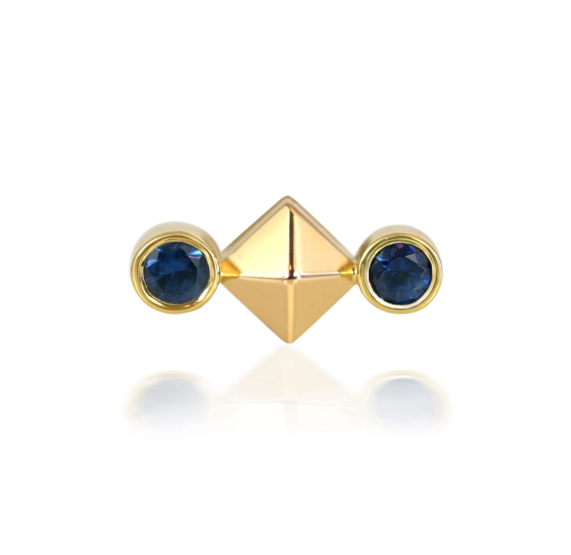 Cornflower-Blue-Natural-Sapphire-Cancer-Jewellery-Earring-Birthday-Gift-Cancer–18k-Solid-Gold-Cartilage-Piercings-Astrology-Sign-Lena-Cohen-British-Designer