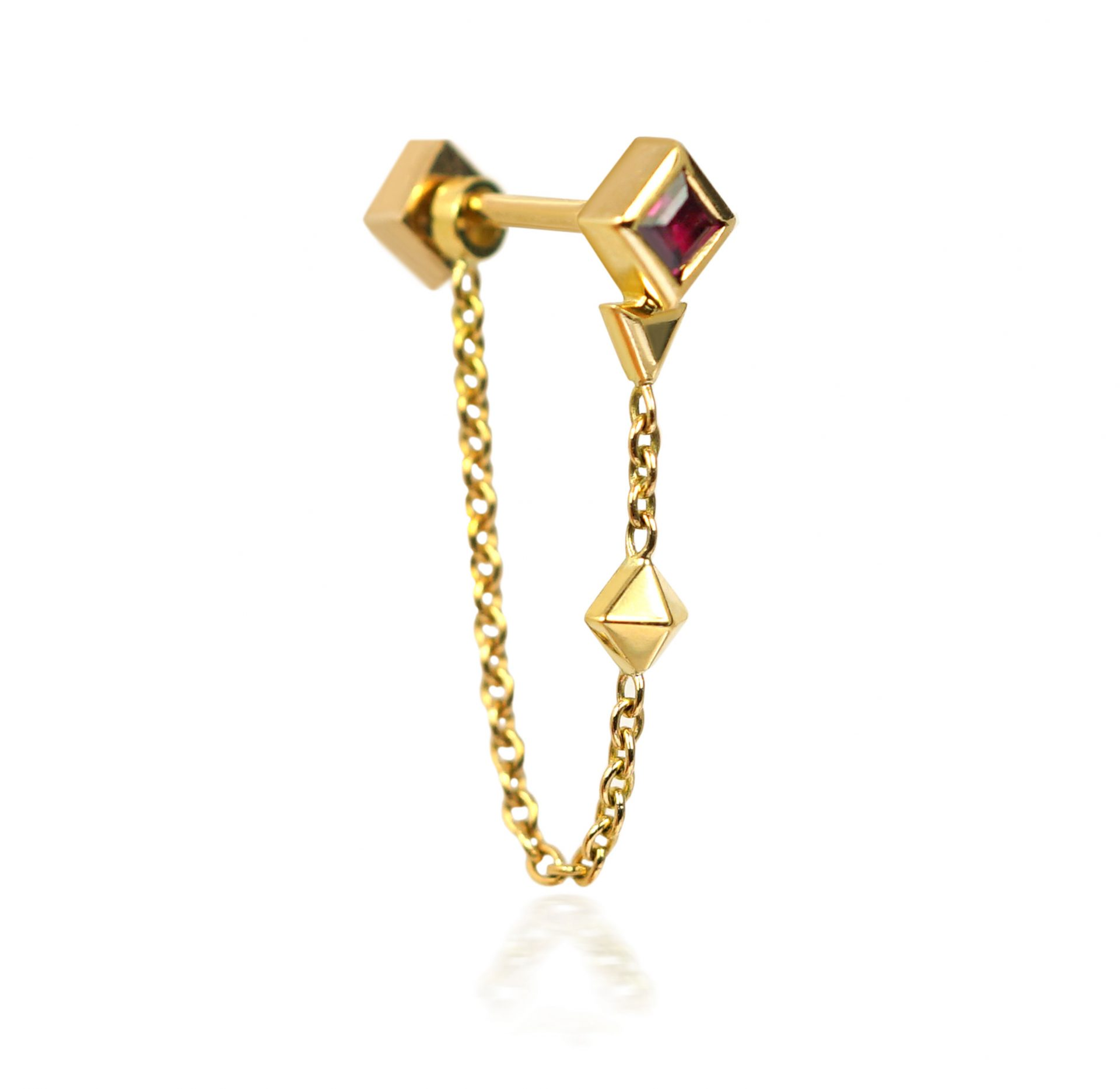 Red-Ruby-Sagittarius-Jewellery-Earring-Birthday-Gift-Sagittarius-18k-Solid-Gold-Cartilage-Piercings-Astrology-Sign-Lena-Cohen-British-Designer
