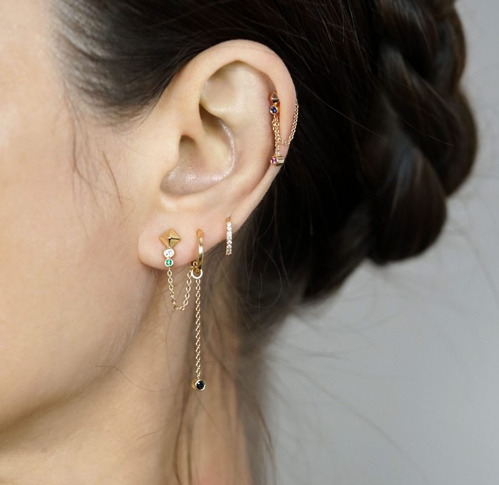 Luxury Piercing Earring Zodiac Collection Capricorn Lena Cohen UK