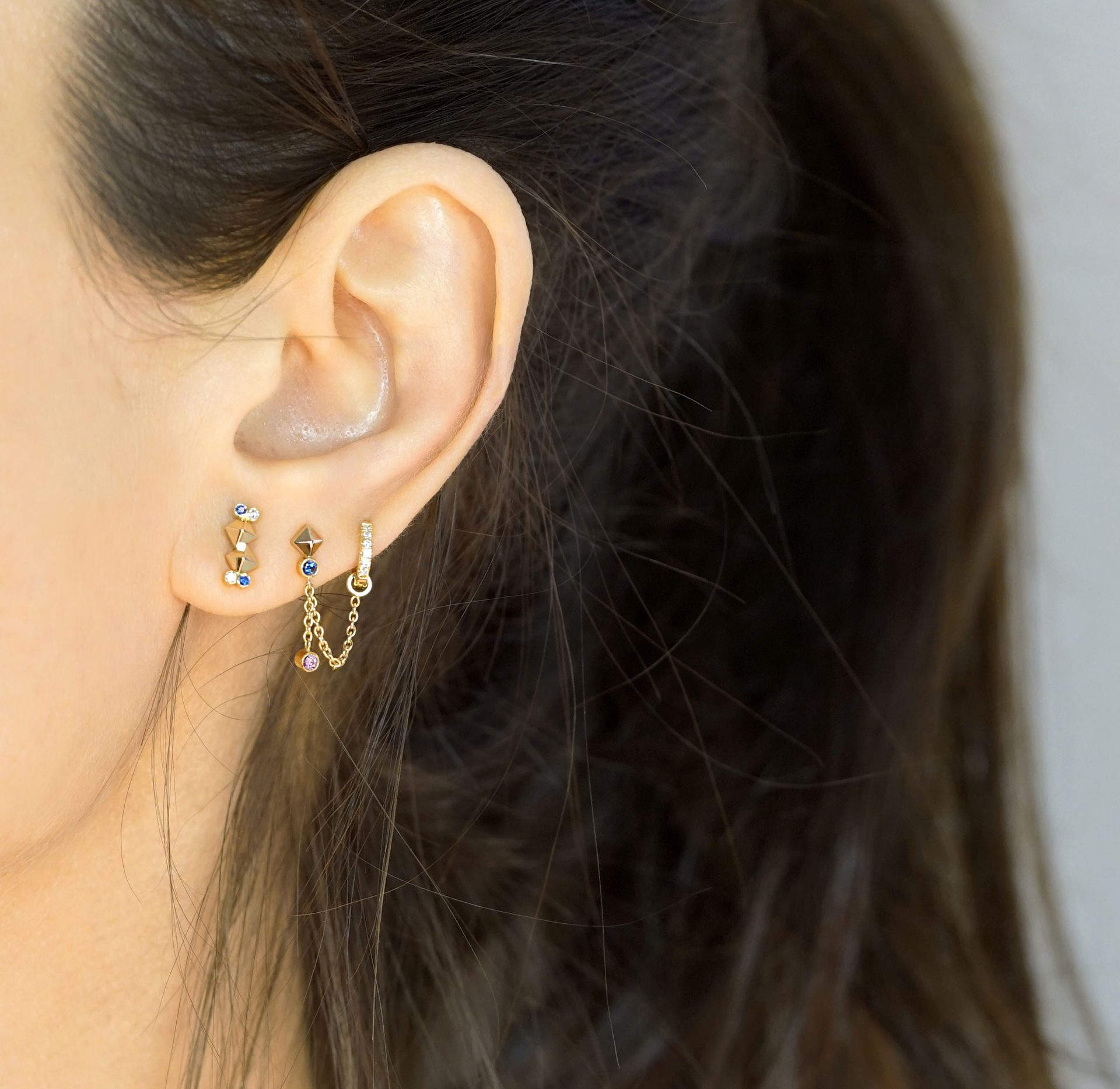 Curated Ear: How To Stack Your Ear Piercings. Lena Cohen Jewellery Blog.