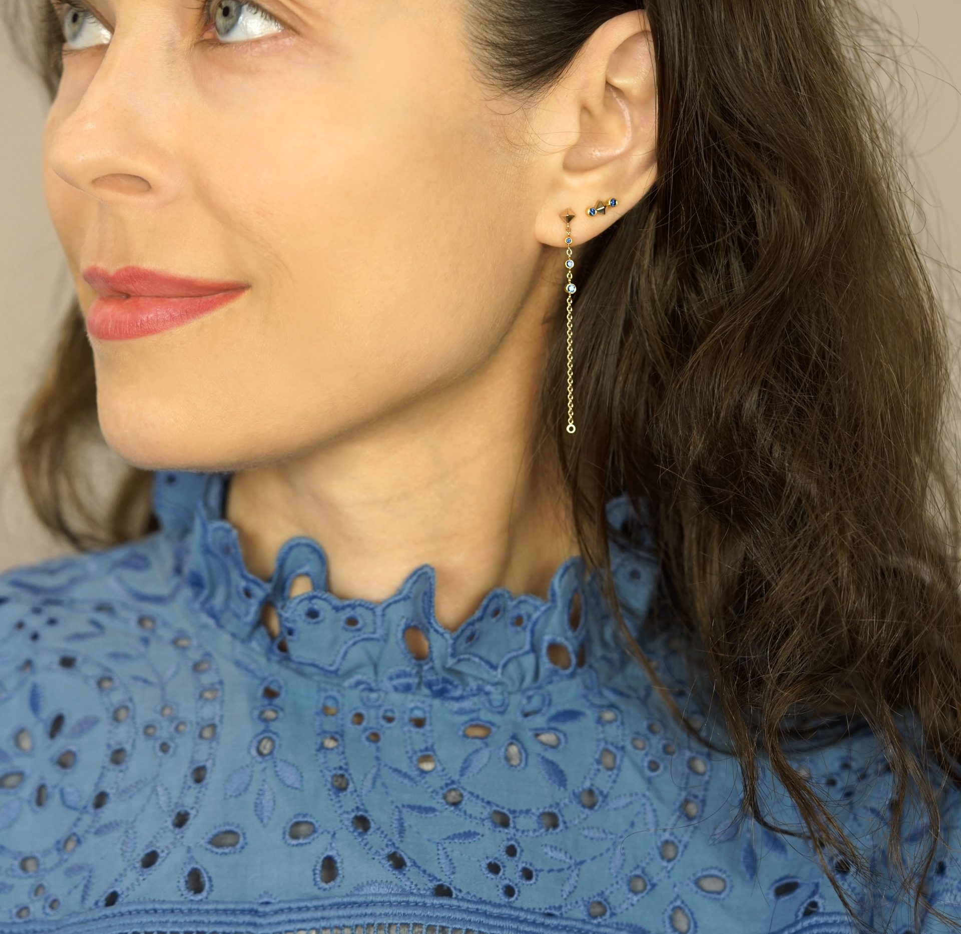 #CuratedEar: How To Stack Your Ear Piercings. Lena Cohen Jewellery Blog.