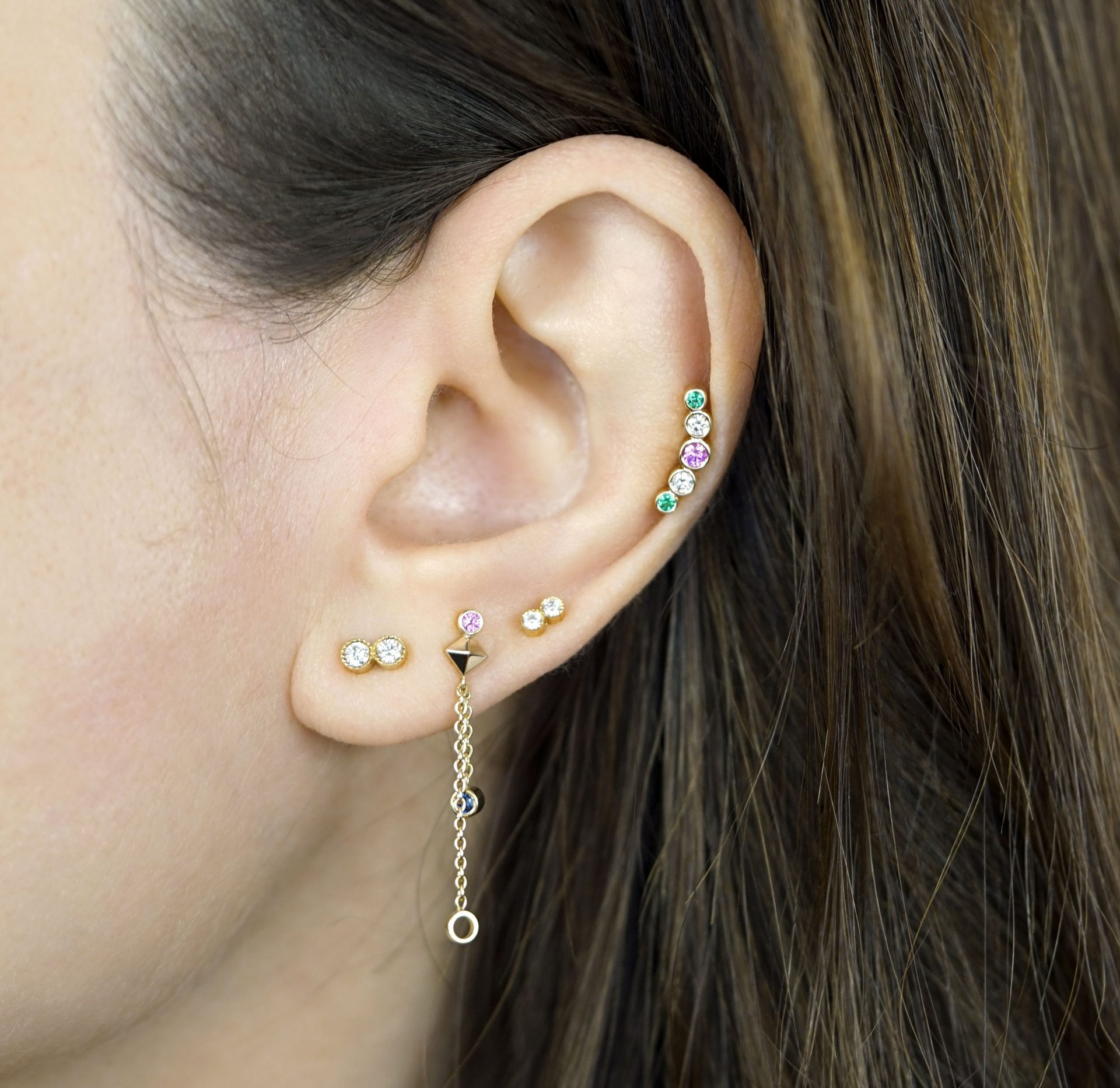 What piercings go well together? Lena Cohen Luxury Piercing Jewellery Blog. Curated Ear: How to wear stacked earrings.
